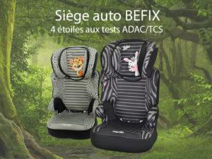Le siège auto Befix groupe 2/3