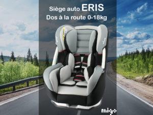 Le siège auto ERIS – Dos à la route jusqu'à 18kg
