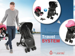 Nos travel system : poussette + siège auto pour la naissance de bébé