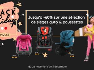 Black Friday Mycarsit : des sièges auto et poussettes à prix fracassés dès le 26 novembre
