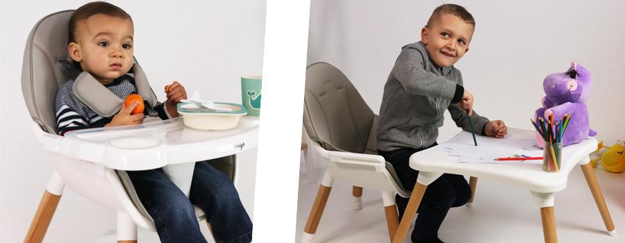 chaise haute eva evolutive