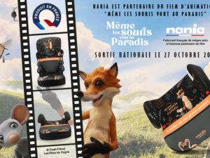 Nania, partenaire officiel du film d'animation «Même les souris vont au paradis»
